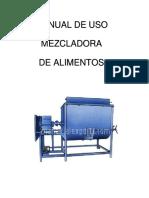 Manual de Uso Mezcladora