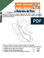 Examen Personal Social Regiones de Peru