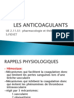 Les Anticoagulants..