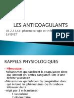Les Anticoagulants..
