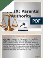 Perfam parental authority