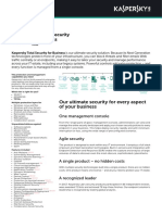 Kaspersky Small Office Security 2019 - Datasheet II