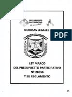 Plan 10599 2015 2 Ley Marco Del Presupuesto Participativo 28056 y Su Reglamento-web