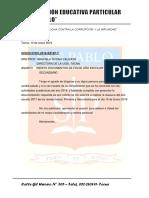 Oficio Ugel Clausura 2018