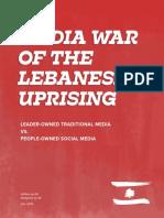 Media War Of The Lebanese Uprising