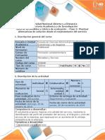 3.Guía de Actividades y Rúbrica de Evaluación - Paso 3 - Plantear Alternativas de Solución Desde El Mejoramiento Del Servicio