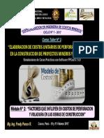 Módulo 2 - Factores Que Influyen en Costos Perf. y Voladura en Obras Construccion (10-Feb-17)