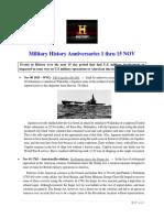 Military History Anniversaries 1101 Thru 111518