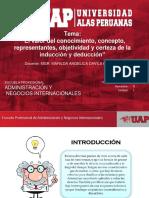 """16 El Valor Del Conocimiento, Concepto, Representantes, Objetividad y Certeza de La Inducción y Deducción"""""""