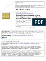 Technological Pedagogical Content Knowle