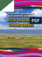 Estatuto Orgánico y Reglamento Interno Ayllu Originario Chambi Grande