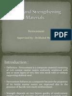 Repair and Strengthening Materials
