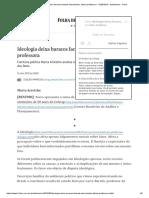 Ideologia Deixa Buracos Factuais Descobertos, Afirma Professora - 12-05-2019 - Ilustríssima - Folha