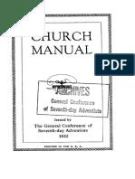 Seventh-day Adventist Church Manual 1932