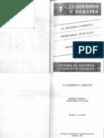 CARACCIOLO, Ricardo - El Sistema Jurídico. Problemas Actuales (Madrid, Centro de Estudios Constitucionales, 1988)