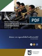 Bifoliar Tec y Lic en Ejecución Msical de Música Popular y Contemporánea