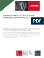 Presentacion Buenas Practicas de Fabricacion de Productos Cosmeticos Iso 22716