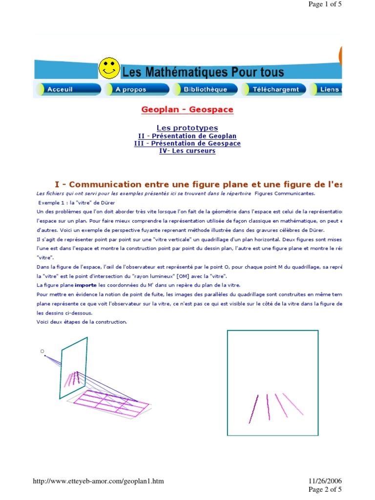 exemples geospace