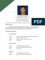 Resume Application Letter
