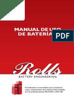 Manual de Uso de Baterias Rolls