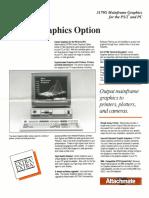 Extra Vector Graphics Option Brochure 1987