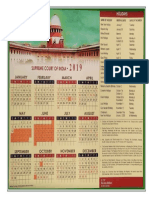 Supreme Court of India Calendar 2019