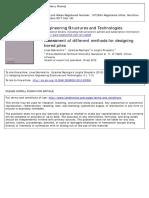 Bored Pile Design Methods-2012