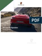 911 Speedster Brochure