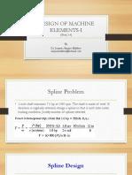 couplings & splines design.