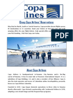 Copa Airlines Flight Information Farecopy