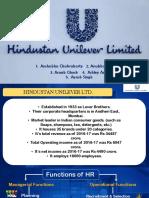 Presentation on Hindustan Unilever Ltd