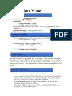Curriculum Vitae de Mario Murcia Egresado UNAH Original 31 de Octubre Modificacion