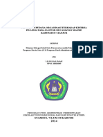 Skripsi Lengkap Pengaruh Budaya Organisasi