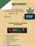 Enterpreneur Seminar Mba