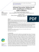 Institutional Investor Behavioral Biases Syntheses of Theory and Evidence