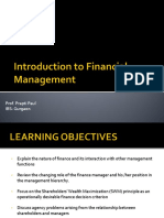 Introduction to financial managemnt