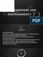 Organisms and Environment - I