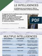 Multiple Intelligences Lecture