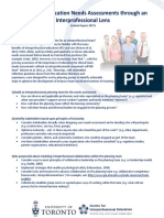 Station 1 - 12 Tips for Education Needs Assessments Through an Interprofessional Lens