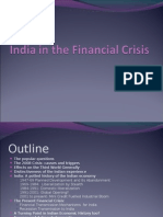India in the Financial Crisis