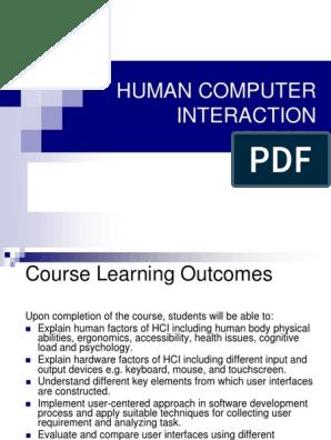 Hci Lecture 1 Human Computer Interaction Visual Perception