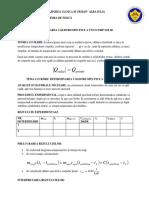 Determinarea Caldurii Specfice a Unui Corp Solid