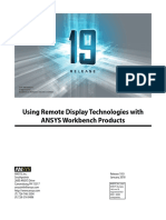 Using Remote Display Technologies With ANSYS Workbench Products