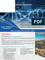 Genetics and Genome Research Conference Brochure