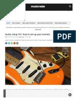 Guitar Setup 101 How to Set Up Your Tremolo