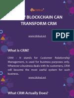 How Blockchain Can Transform CRM