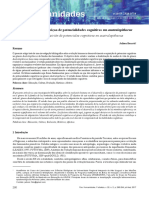 Desenvolvimento/aquisiçao de potencialidades cognitivas em australopithecus