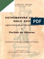 Siglo 18 extremadura