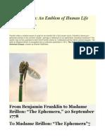 Benjamin Franklin- Short story