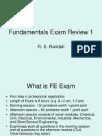 Fundamentals Exam Review 1a